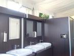 lavabi flut utilizzati in un evento di lusso