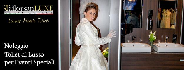 L'oggetto del desiderio? Un WC a Noleggio per il proprio Matrimonio.